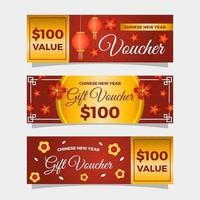 Chinese New Year Marketing and Promotion Voucher Collection vector