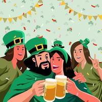 St Patrick's Day Celebration Party vector