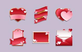 Valentine's Day Label and Badge Templates vector