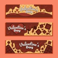 romance de chocolate derretido de san valentín vector