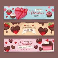 dulce chocolate de san valentin vector
