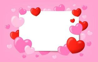 Realistic Colorful Valentine Heart Background vector