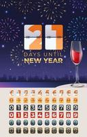 Celebrate New Year Countdown Template vector