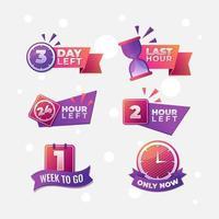 Modern Countdown Banner Collection vector