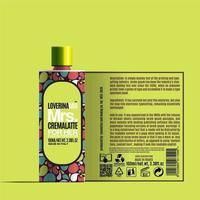 plantilla de maqueta de paquete de botella de loción corporal cosmética