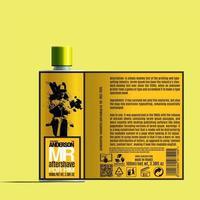 Plantilla de maqueta de paquete de botella de cosméticos para después del afeitado