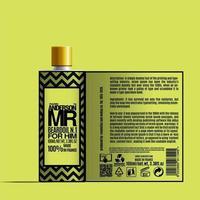 Plantilla de maqueta de paquete de botella de aceite de barba de cosméticos