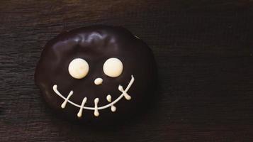 Decorated Halloween donut