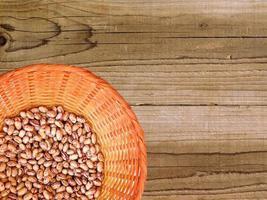 Lentils on a basket
