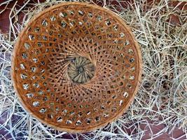 Basket on straw