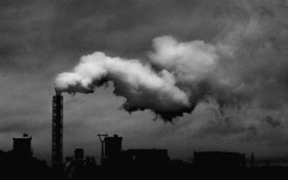 Monochrome of an industrial plant