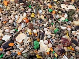 Close-up of trail mix