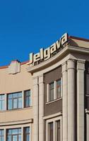 jelgava, letonia, 2020 - vista del hotel jelgava