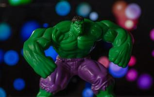United States, 2020 - Close-up of a Hulk toy
