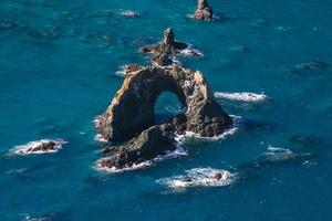Arched island in the ocean