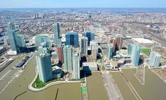 New Jersey, NY, 2020 - Aerial view of the Jersey skyline photo