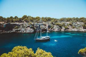 Mallorca, Spain, 2020 - Sailboat in the middle of the sea photo