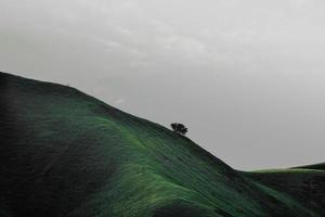 Moody photo of green hills