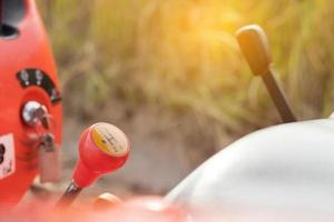 Gear shifts on a tractor photo