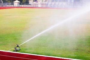 Sprinkler on a field
