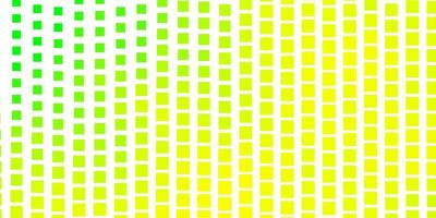 plantilla de vector verde claro, amarillo en rectángulos.