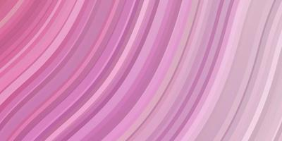 textura de vector rosa claro con arco circular.