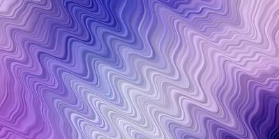 Light Pink, Blue vector pattern with wavy lines.