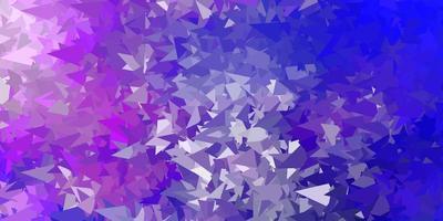 Dark pink, blue vector geometric polygonal wallpaper.