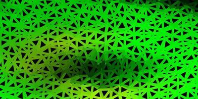 patrón poligonal de vector verde claro, amarillo.
