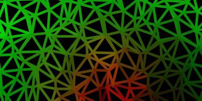 Light green, red vector triangle mosaic backdrop.