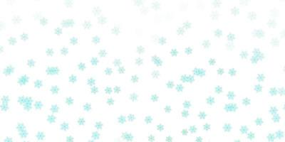 Light green vector doodle background with flowers.