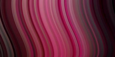 patrón de vector rosa oscuro con líneas curvas.
