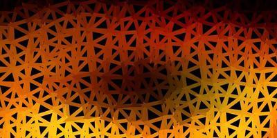 Dark green, yellow vector triangle mosaic pattern.