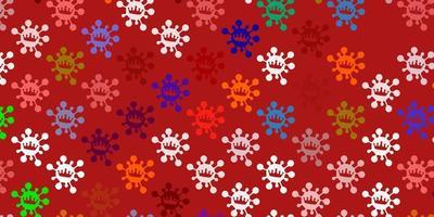 Light multicolor vector pattern with coronavirus elements