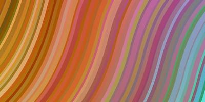 Fondo de vector multicolor claro con líneas dobladas.