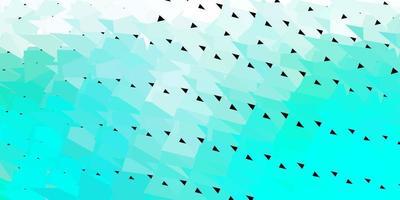Telón de fondo de mosaico de triángulo vector verde claro.