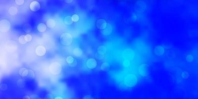 Fondo de vector rosa claro, azul con círculos.