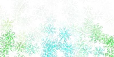 patrón abstracto de vector verde claro con hojas.