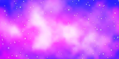 Light Pink, Blue vector pattern with abstract stars.