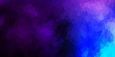 Dark pink, blue vector triangle mosaic design.
