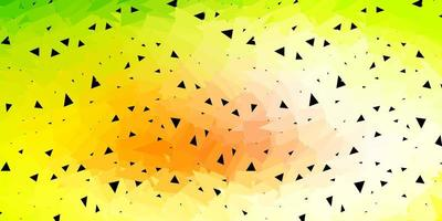Light green, red vector abstract triangle background.