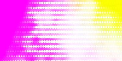 Fondo de vector rosa claro, amarillo con círculos.