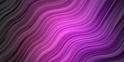 Dark Purple vector template with lines.