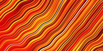 Light Orange vector background with bent lines.