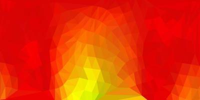 Dark green, yellow vector triangle mosaic backdrop.