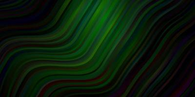 Dark Blue, Green vector pattern with curved lines.