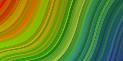 Light Multicolor vector background with bent lines.