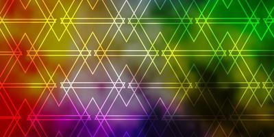 Light Multicolor vector layout with lines, triangles.