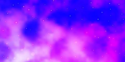 patrón de vector rosa claro, azul con estrellas abstractas.