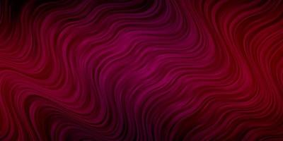 Dark Pink vector pattern with curved lines.
